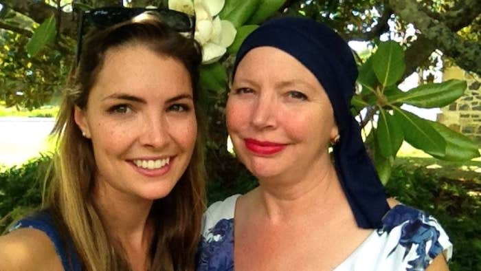 Sophie Guthrie and her mother with ovarian cancer